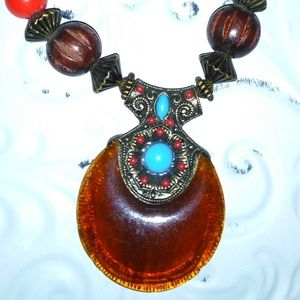 Resin beads and drop Amber color